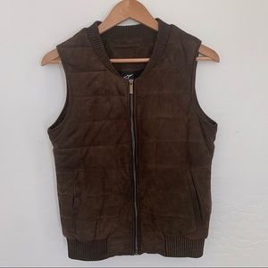 Alpinestars Italian suede leather puffer vest